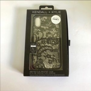 NWT Kendall & Kylie Black Lace iPhone X Case